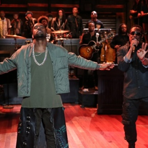 Kanye West Makes Surprise Visit to Late Night