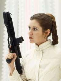 "13. Princess Leia: She just might have been one of the few women in a galaxy far, far away, but at least she was doing sh*t. She was one of the only people to outright insult Darth Vader and retain all her extremities. Not to mention, she was running a multi-system rebellion against the Galactic Empire at age 19, disguised herself as a bounty hunter, and strangled a morbidly obese crime lord who had taken her as a sex slave. In the Expanded Universe novels, she also trains to be a Jedi. It kind of makes you wonder, ""What the f*ck did you do today?""."