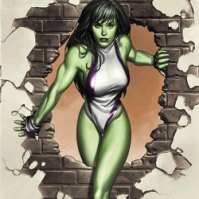 8. She-Hulk: Proof that you can kick ass while saving the day and still have a steady job as a lawyer (i.e. normal things). She's also proof that besides the green skin, she has the confidence to have numerous dudes on the side.