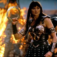 3. Xena--Warrior Princess: WW is not the only Amazonian woman on the countdown. Xena went from being a guest character to having her own spin-off that ran longer than the original. She also taught me that throwing Frisbees (if done right) can seriously injure people.