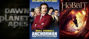 Posters for 'The Hobbit 2', 'Dawn of the Apes', and 'Anchorman 2' Hit the Web