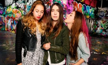 The band Haim photographed for the Guide.