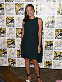 Rosario Dawson rocking a partially shaved 'do.