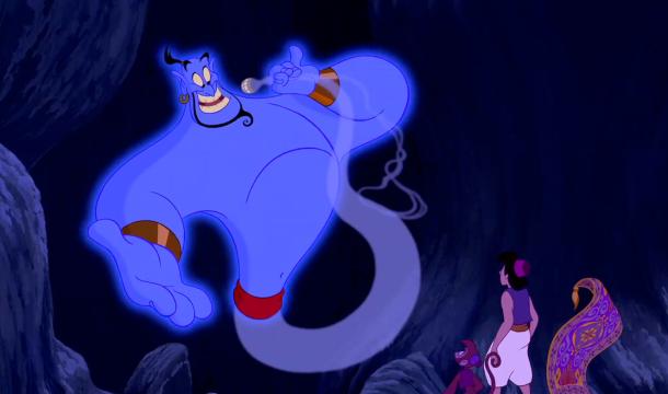 Aladdin Disney Genie, Aladdin, Apu and the Magic Carpet