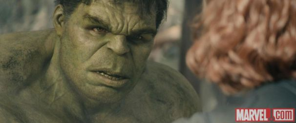Hulk-Mark-Ruffalo-stares-down-Black-Widow-Scarlett-Johansson-in-Marvels-Avengers-Age-of-Ultron