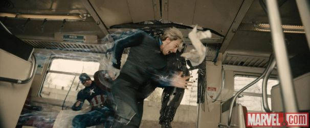 Pietro-Maximoff-Aaron-Taylor-Johnson-races-past-Captain-America-Chris-Evans-in-Marvels-Avengers-Age-of-Ultron