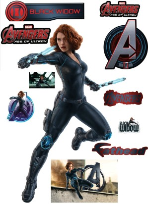 The-Avengers-2-Age-of-Ultron-Fathead-Decal-Black-Widow-Stickers