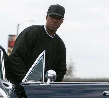 "This photo provided by Universal Pictures shows, Corey Hawkins as Dr. Dre, in a scene from the film, ""Straight Outta Compton."