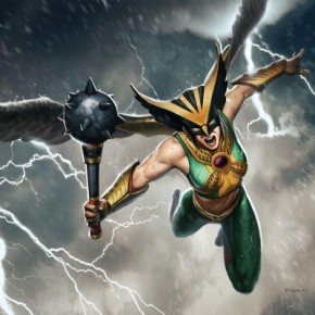 "Hers Is The Fury: An Ode To Hawkgirl and Other ""Punchy"" Heroines"
