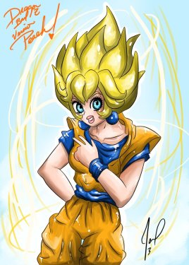 fanart_peach_version_saijayin_1_dragon_ball_z_by_rockersita-d5xz5db